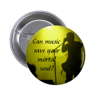Music saves 2 inch round button