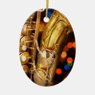 Music - Sax - Very saxxy Ceramic Ornament