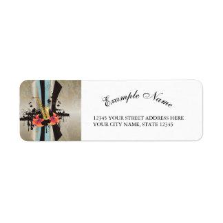 Music, Saxophone Return Address Label