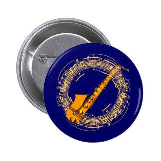 Music saxophone music sax saxophones pinback button