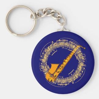 Music saxophone music sax saxophones keychain