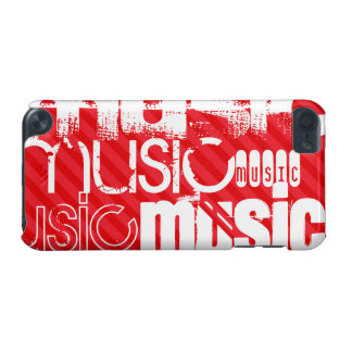 Music; Scarlet Red Stripes iPod Touch 5G Covers