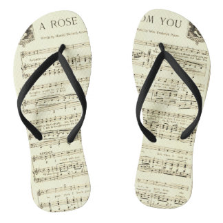 Music Score - A Rose From You Flip Flops