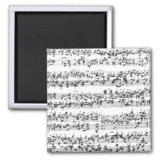 Music Score of Johann Sebastian Bach Square Magnet