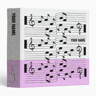 Music Scores Note Sheet Binder Pink