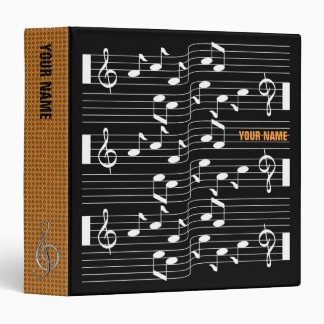Music Scores Note Sheet Black Binder Orange Spine
