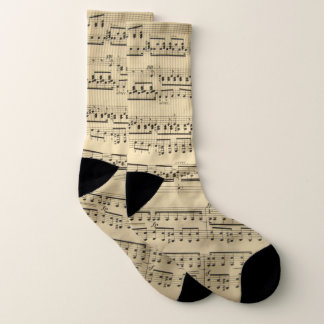 Music sheet musical notes socks
