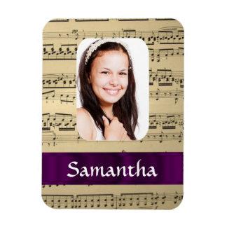 Music sheet photo template magnet