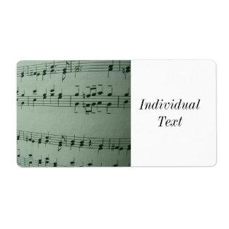 Music Shipping Label
