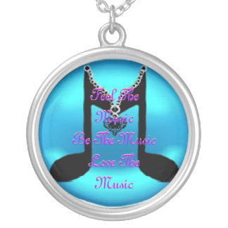 Music Silver Plated Necklace