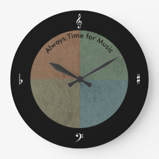 Music Simple and Bold Clock