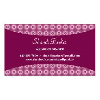 Music Singer Elegant Business Card