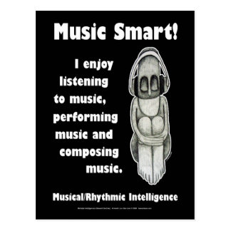 Music Smart - Blank Postcard