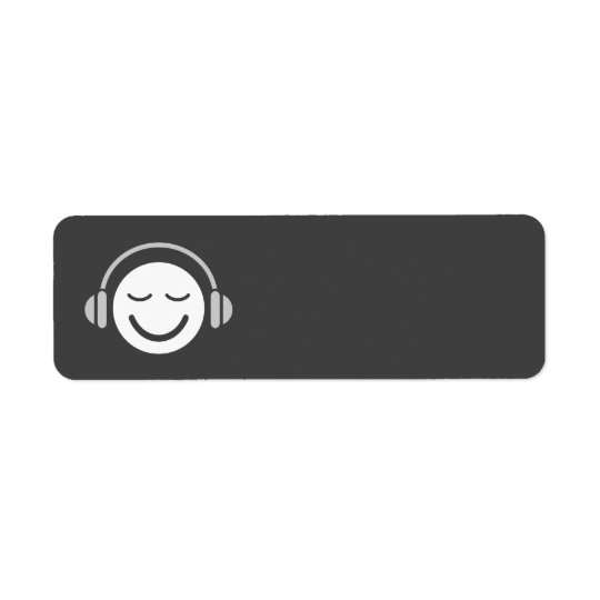 Music smiley DJ musician modern cool grey blank