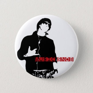 Music Snob 2 Inch Round Button