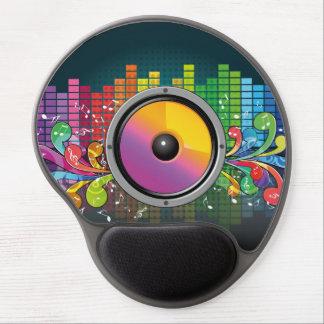 Music speaker colorful artistic illustration gel mouse pad