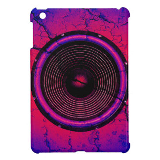 Music speaker on a cracked wall iPad mini case