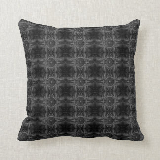 Music speaker on a cracked wall pattern throw pillow