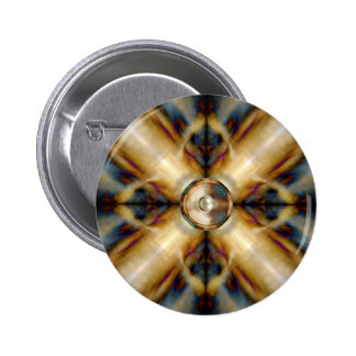 Music speaker on a gold cross background 2 inch round button