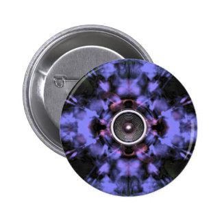 Music speaker on a purple background 2 inch round button