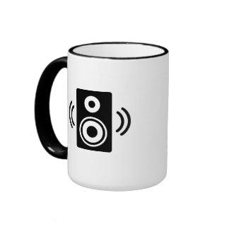 Music speaker ringer mug