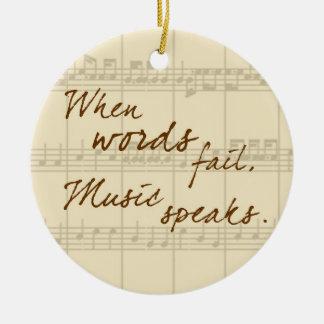 Music Speaks Ceramic Ornament