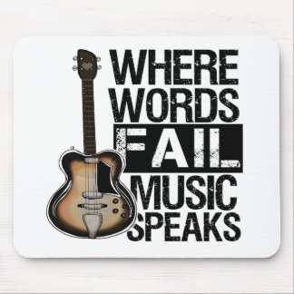 Music Speaks | Choose your background color Mouse Pad