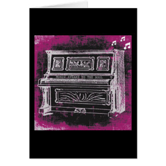 Music Speaks Greeting Card