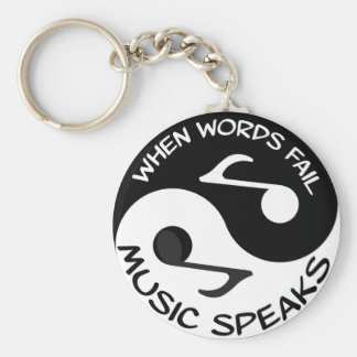 Music Speaks Keychain