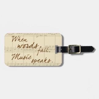 Music Speaks Luggage Tag