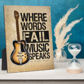 Music Speaks Plaque