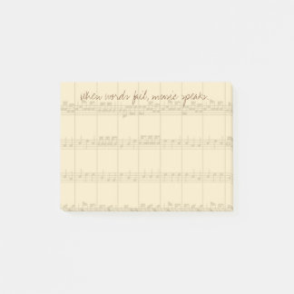 Music Speaks Post-it Notes