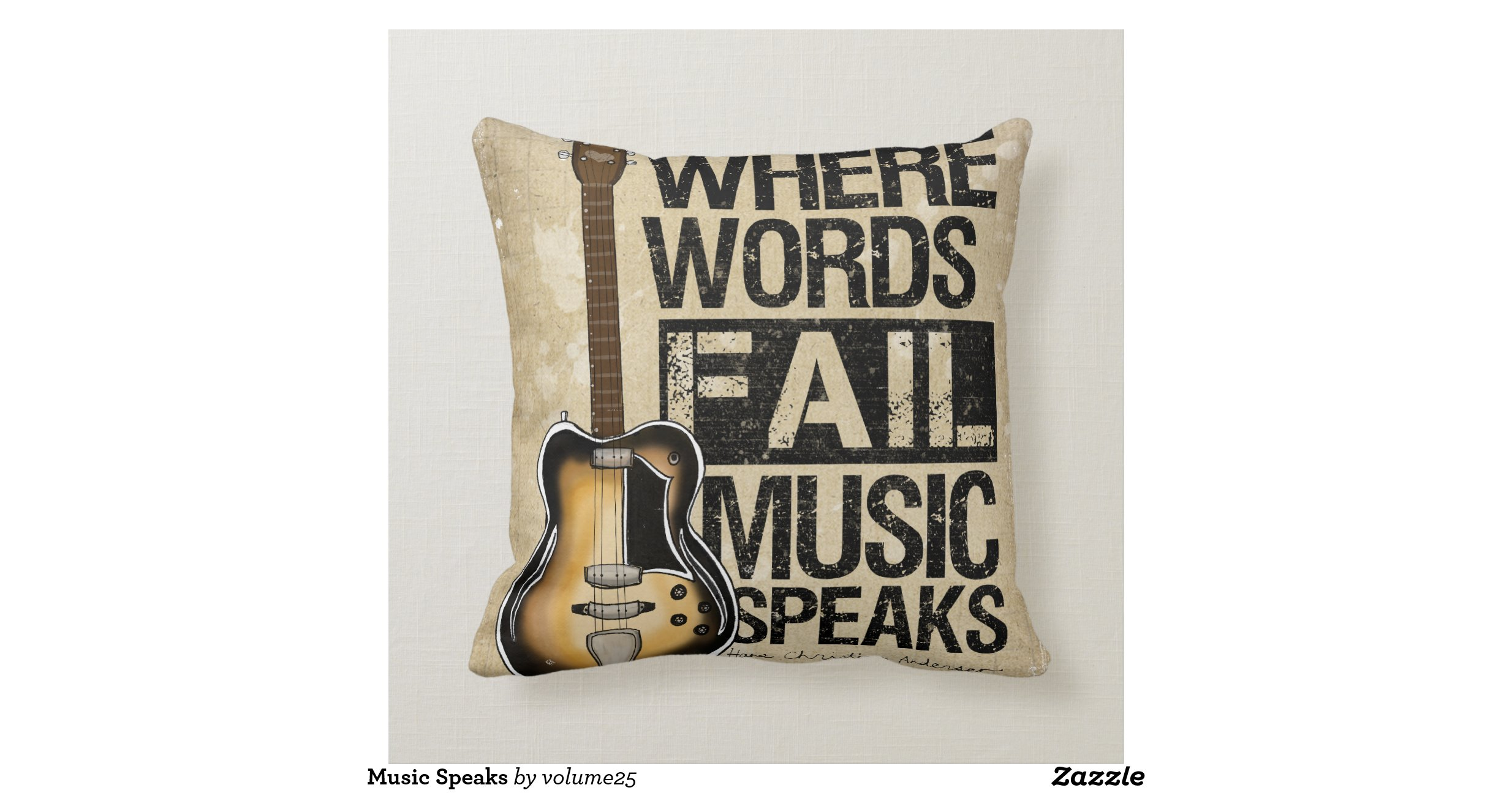 No Throw Pillows On The Bed Song : Music Speaks Throw Pillows Zazzle