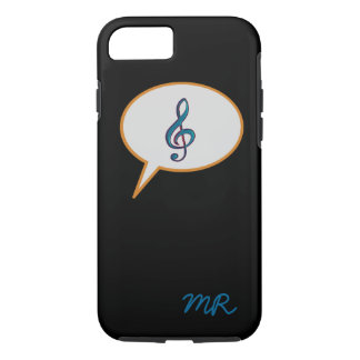 music speech balloon personalized iPhone 7 case