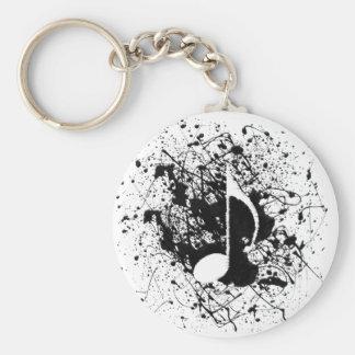 Music Splatter Keychain