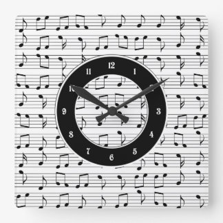 Music Square Wall Clock