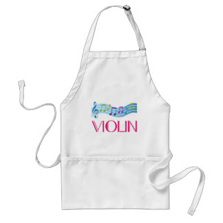 Music Staff and Violin Musical Gift Standard Apron