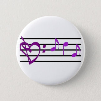 Music Staff Heart Button