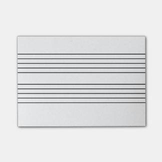 Music staff notepad