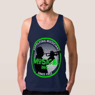 Music Store Retro Logo Trumpet Player Graphic Tank Top