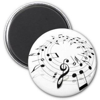 Music Swirl 2 Inch Round Magnet