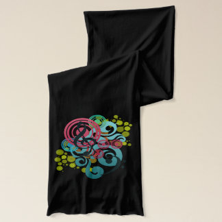 Music Swirl design scarf