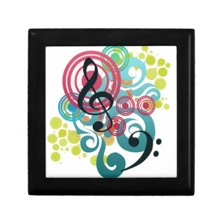 Music Swirl wooden gift and jewelry box