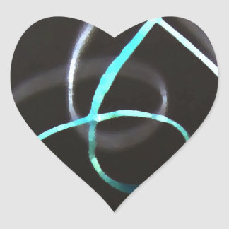 Music Symbol Treble Musician Turquoise Abstract Heart Sticker