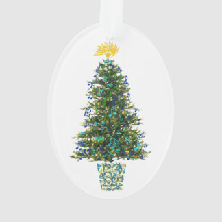 Music Symbols Christmas Tree Customizable Year Ornament