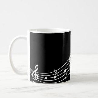 Music Symbols Wavy Staffs Musician's Mug
