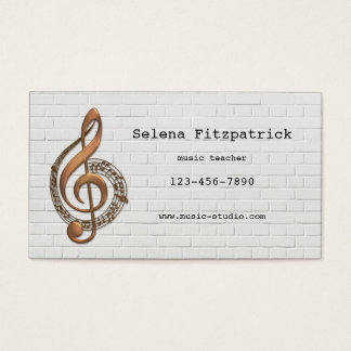 Music Teacher Appointment Business Card