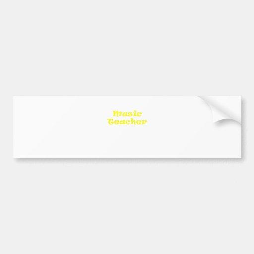 Music Teacher Bumper Stickers