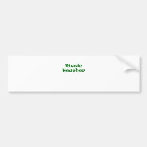 Music Teacher Bumper Sticker