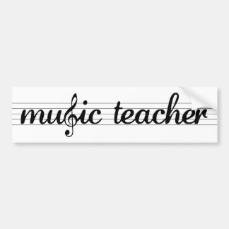 Music Teacher Bumper Sticker